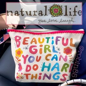Natural Life 🍭 Canvas Make-Up Accessories Pouch